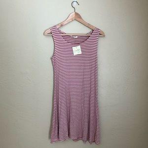 OLIVIA RAE PINK STRIPED SLEEVELESS FLOW DRESS